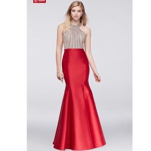 Red Mermaid Dress-Prom, Pageant, Homecoming Gown